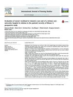 prikaz prve stranice dokumenta Evaluation of nurses' workload in intensive care unit of a tertiary care university hospital in relation to the patients' severity of illness: A prospective study